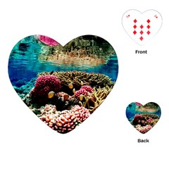 Coral Reefs 1 Playing Cards (heart)  by trendistuff