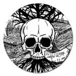 Skull & Books Magnet 5  (Round)