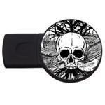 Skull & Books USB Flash Drive Round (4 GB)