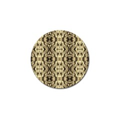 Gold Fabric Pattern Design Golf Ball Marker (10 Pack) by Costasonlineshop