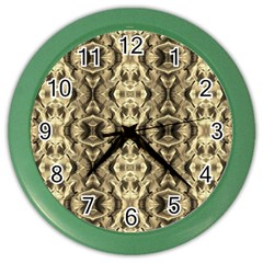 Gold Fabric Pattern Design Color Wall Clocks by Costasonlineshop