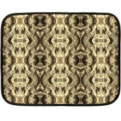 Gold Fabric Pattern Design Double Sided Fleece Blanket (mini)  by Costasonlineshop