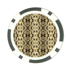 Gold Fabric Pattern Design Poker Chip Card Guards (10 Pack)  by Costasonlineshop