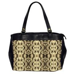 Gold Fabric Pattern Design Office Handbags (2 Sides)  by Costasonlineshop
