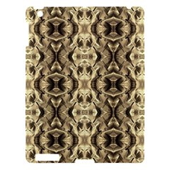 Gold Fabric Pattern Design Apple Ipad 3/4 Hardshell Case by Costasonlineshop