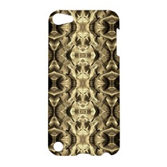 Gold Fabric Pattern Design Apple Ipod Touch 5 Hardshell Case by Costasonlineshop