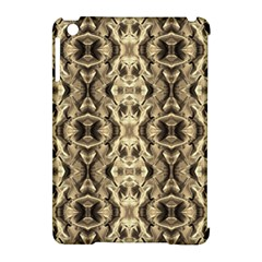 Gold Fabric Pattern Design Apple Ipad Mini Hardshell Case (compatible With Smart Cover) by Costasonlineshop