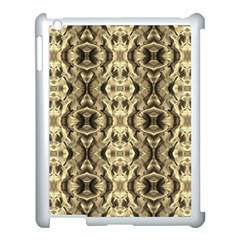 Gold Fabric Pattern Design Apple iPad 3/4 Case (White) by Costasonlineshop