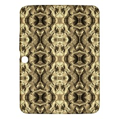 Gold Fabric Pattern Design Samsung Galaxy Tab 3 (10 1 ) P5200 Hardshell Case  by Costasonlineshop