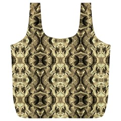 Gold Fabric Pattern Design Full Print Recycle Bags (L)  by Costasonlineshop