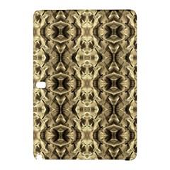 Gold Fabric Pattern Design Samsung Galaxy Tab Pro 10 1 Hardshell Case by Costasonlineshop