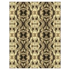 Gold Fabric Pattern Design Drawstring Bag (large) by Costasonlineshop