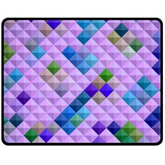 Mosaic & Co 01b Double Sided Fleece Blanket (medium)  by MoreColorsinLife