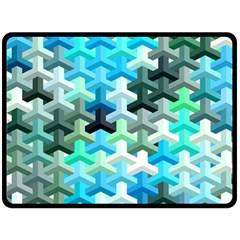 Mosaic & Co 02a Double Sided Fleece Blanket (large)  by MoreColorsinLife