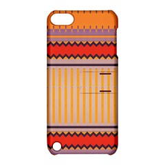 Stripes And Chevronsapple Ipod Touch 5 Hardshell Case With Stand by LalyLauraFLM
