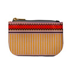Stripes And Chevrons 	mini Coin Purse by LalyLauraFLM