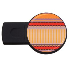 Stripes And Chevronsusb Flash Drive Round (2 Gb) by LalyLauraFLM