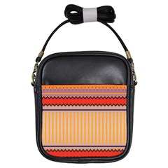 Stripes And Chevrons			girls Sling Bag by LalyLauraFLM