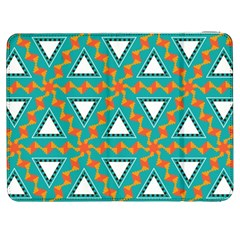 Triangles and other shapes pattern			Samsung Galaxy Tab 7  P1000 Flip Case by LalyLauraFLM