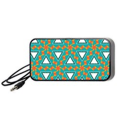 Triangles And Other Shapes Pattern Portable Speaker by LalyLauraFLM