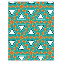 Triangles And Other Shapes Pattern Large Drawstring Bag by LalyLauraFLM