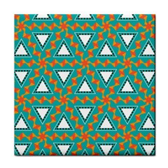 Triangles And Other Shapes Pattern			tile Coaster by LalyLauraFLM