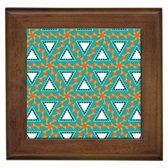 Triangles And Other Shapes Pattern			framed Tile by LalyLauraFLM