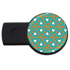 Triangles And Other Shapes Patternusb Flash Drive Round (2 Gb) by LalyLauraFLM