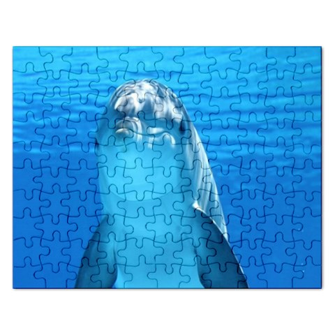 Blue Dolphin  Puzzle By Pamela Sue Goforth   Jigsaw Puzzle (rectangular)   Knig5shnbquw   Www Artscow Com Front