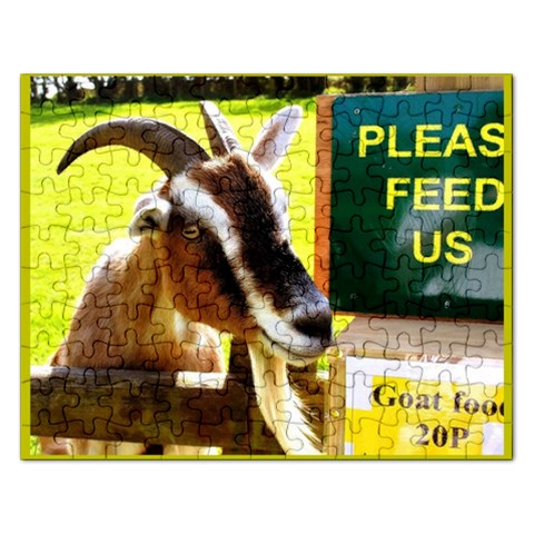Please Feed Us Goat Food 20p  Template  : Puzzle By Pamela Sue Goforth   Jigsaw Puzzle (rectangular)   P759zxe1it35   Www Artscow Com Front