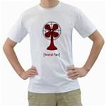 Metal Fan Men s T-Shirt (White)
