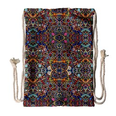Kaleidoscope Folding Umbrella #10 Drawstring Bag (large) by BadBettyz