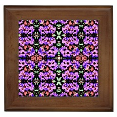 Purple Green Flowers With Green Framed Tiles by Costasonlineshop