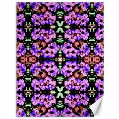Purple Green Flowers With Green Canvas 36  X 48   by Costasonlineshop