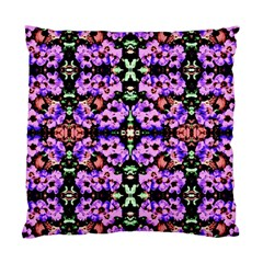 Purple Green Flowers With Green Standard Cushion Cases (Two Sides)  by Costasonlineshop