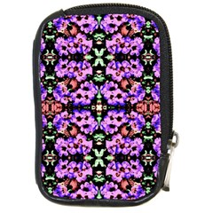 Purple Green Flowers With Green Compact Camera Cases by Costasonlineshop