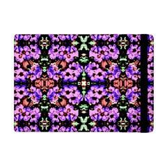 Purple Green Flowers With Green Apple Ipad Mini Flip Case by Costasonlineshop