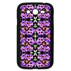 Purple Green Flowers With Green Samsung Galaxy Grand Duos I9082 Case (black) by Costasonlineshop