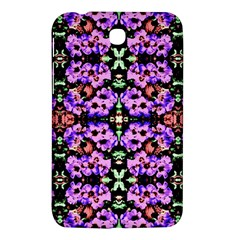 Purple Green Flowers With Green Samsung Galaxy Tab 3 (7 ) P3200 Hardshell Case  by Costasonlineshop