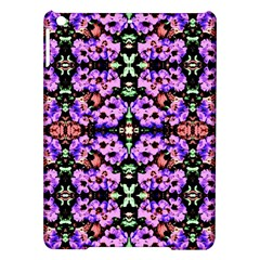 Purple Green Flowers With Green Ipad Air Hardshell Cases by Costasonlineshop
