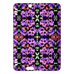 Purple Green Flowers With Green Kindle Fire Hdx Hardshell Case by Costasonlineshop