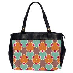 Stars and honeycombs pattern Oversize Office Handbag (2 Sides) by LalyLauraFLM