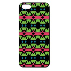 Shapes On A Black Background Pattern			apple Iphone 5 Seamless Case (black) by LalyLauraFLM