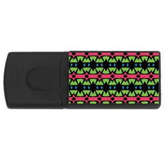 Shapes On A Black Background Pattern			usb Flash Drive Rectangular (4 Gb) by LalyLauraFLM