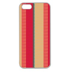 Stripes And Other Shapesapple Seamless Iphone 5 Case (clear) by LalyLauraFLM