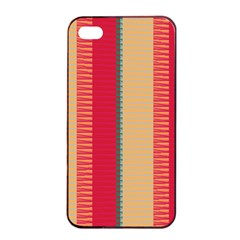 Stripes And Other Shapes			apple Iphone 4/4s Seamless Case (black) by LalyLauraFLM