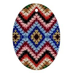 Colorful Diamond Crochet Ornament (Oval)  by Costasonlineshop