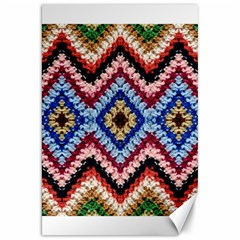 Colorful Diamond Crochet Canvas 20  X 30   by Costasonlineshop