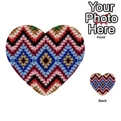 Colorful Diamond Crochet Multi Purpose Cards (heart)  by Costasonlineshop