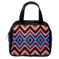 Colorful Diamond Crochet Classic Handbags (one Side) by Costasonlineshop